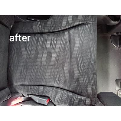 シートクリーニングafter シート汚れ、すっきりクリーニング