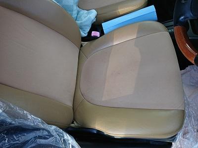 ミラジーノ運転席シート全容after 内装補修 レザーシートひび割れ