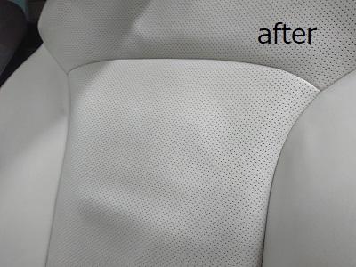 助手席背もたれafter 革シートのハガレ補修(助手席)