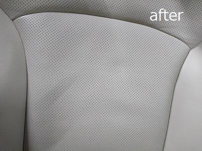 運転席背もたれafter 革シートのハガレ補修(運転席)