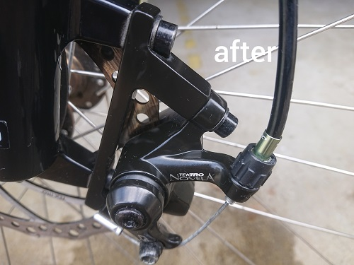 フロントafter 自転車パーツクリーニング