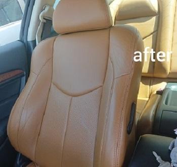 運転席背もたれafter クリーニング